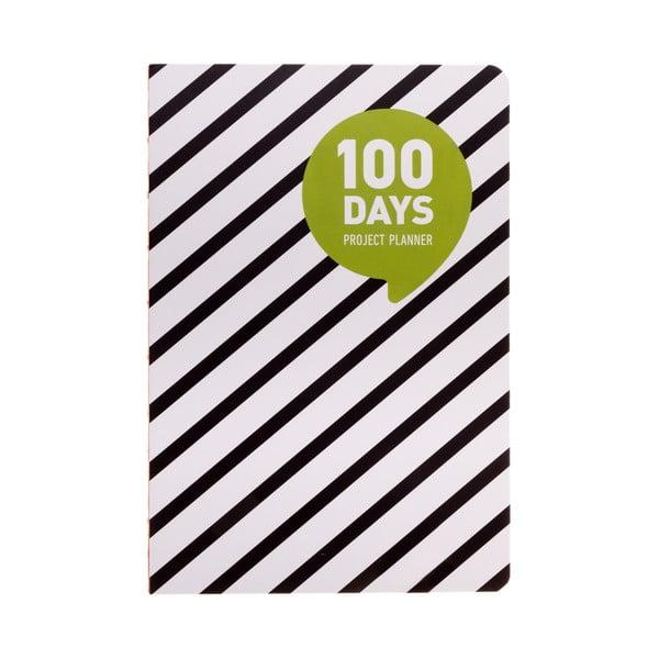 Organizer Languo 100 Days Black/White, w prążki