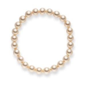 Jasnożółta bransoletka perłowa Pearls of London Mystic, dł. 19 cm