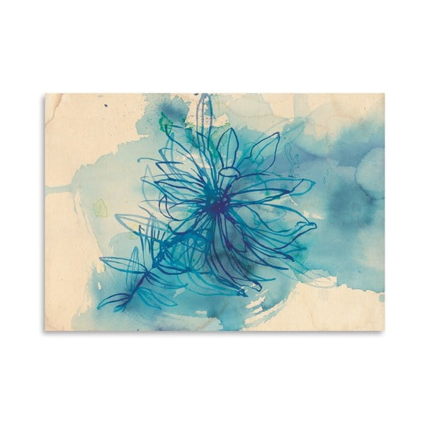 Plakat Blue Wash Wild Flower, 30x42 cm