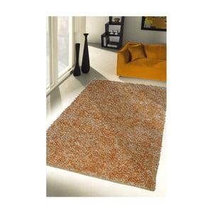 Żółty dywan Webtappeti Shaggy, 60x100cm