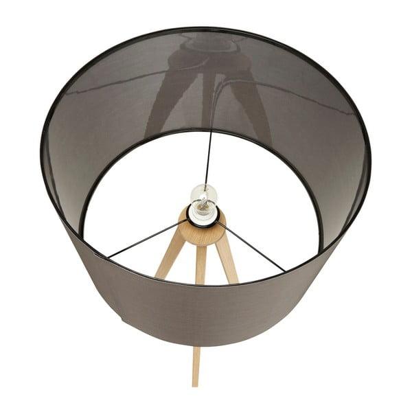 Lampa stojąca z szarym abażurem Kokoon Trivet
