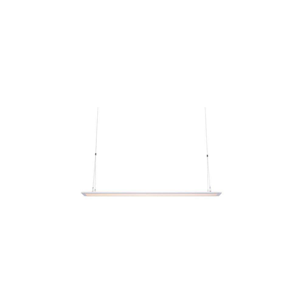Biała lampa wisząca Markslöjd Plan, dł. 90 cm
