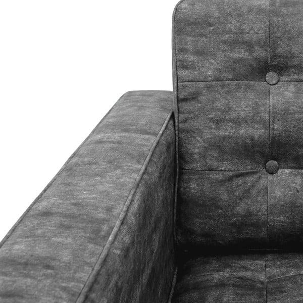 Sofa dwuosobowa Ben, ciemnoszara