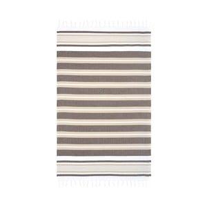 Brązowy ręcznik hammam Begonville Rkyer Neutral, 180x100 cm