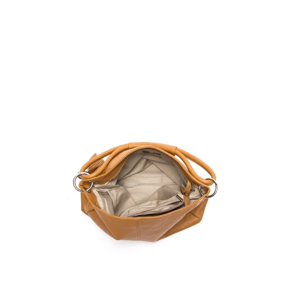 Skórzana torebka Anna Luchini 71 Cognac