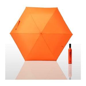 Parasol składany 0% plus, pomarańczowy