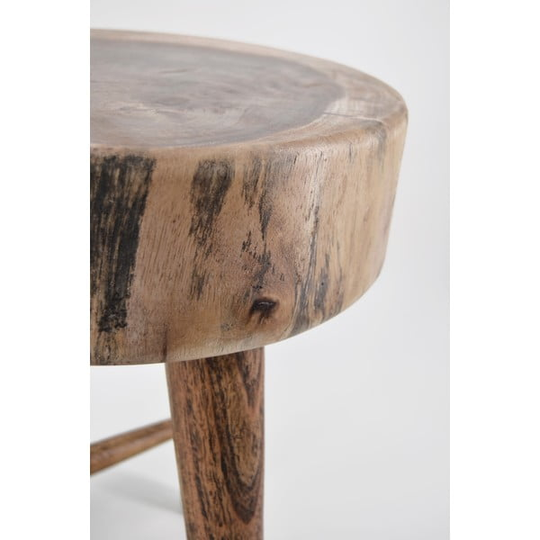 Stołek z drewna tekowego Suar