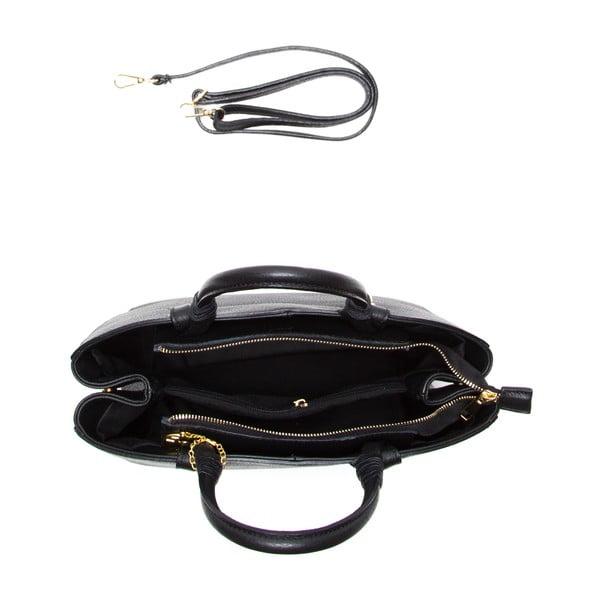 Skórzana torebka Ciara, czarna