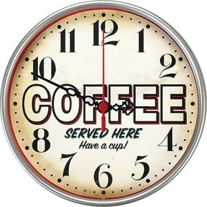 Zegar ścienny Served Here, 30 cm