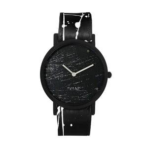 Czarny zegarek unisex z czarno-białym paskiem South Lane Stockholm Avant Raw