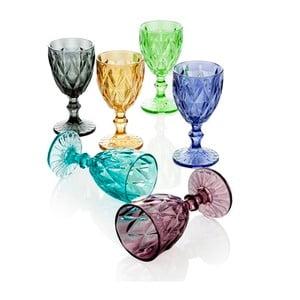 Zestaw 6 szklanek Diamante Goblet