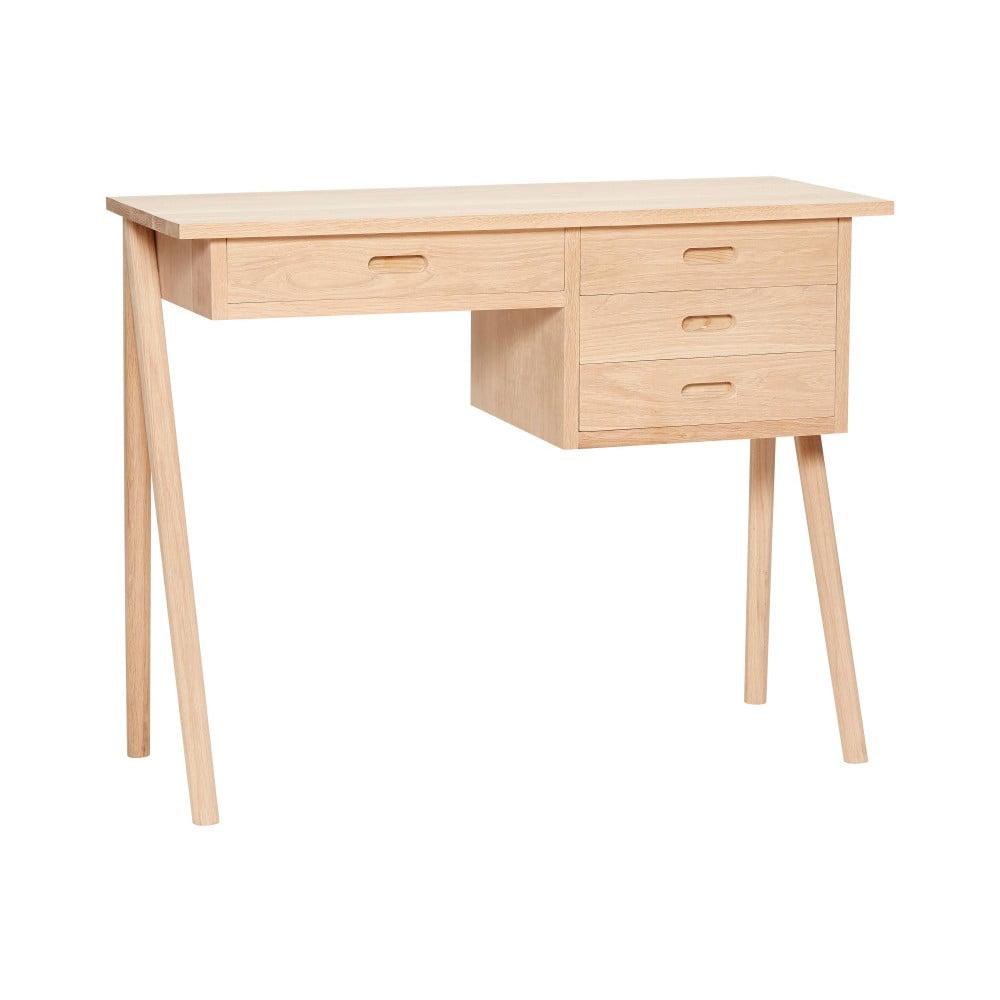 Biurko z drewna dębowego z 4 szufladami Hübsch Ejnar