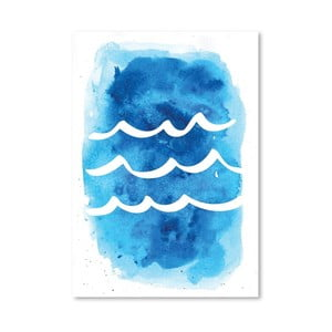 Plakat Watercolor Blue Waves