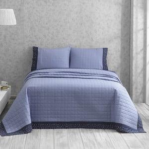 Narzuta z dwiema poszewkami na poduszkę Jolly Blue, 180x250 cm