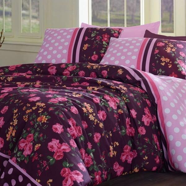 Komplet pościeli Jardin De Rose Pink, 200x220 cm