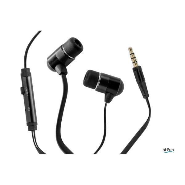 Słuchawki hi-Earphones Flat, czarne