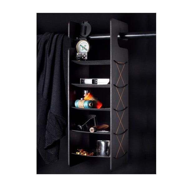 Półka wisząca/stojąca Smardrobe 50x15 cm, czarna