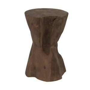Stołek z drewna tekowego HSM Collection Diabolo