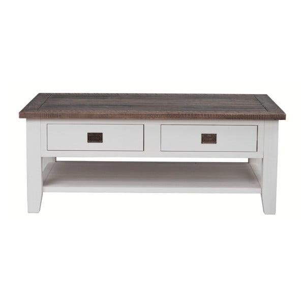 Biały stolik drewniany Rowico Nottingham, dł. 127 cm