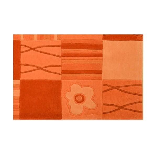Dywan ręcznie tkany Calypso, 70x140 cm, pomarańczowy