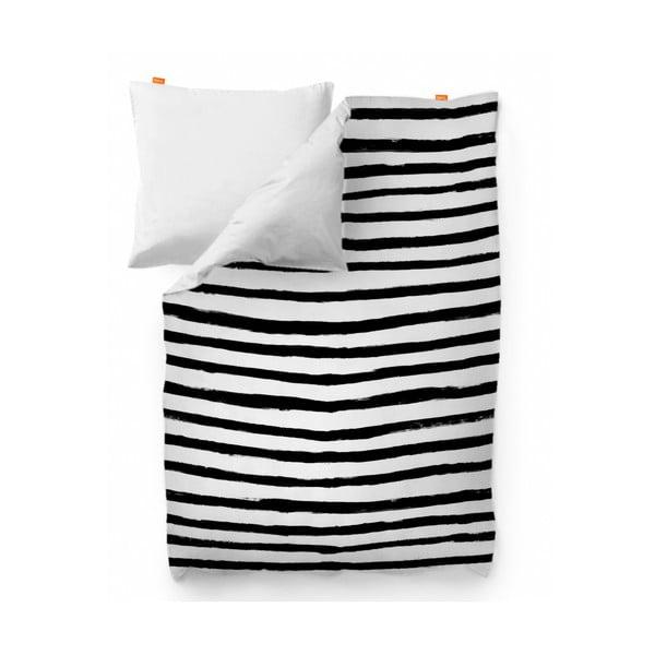 Bawełniana poszwa na kołdrę Blanc Stripes, 200x200cm