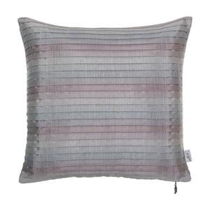 Szaro-różowa poszewka plisowana na poduszkę Apolena Shabby, 40x40 cm