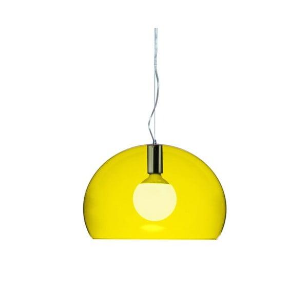 Mała żółta lampa wisząca Kartell Fly