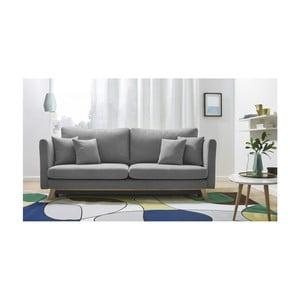Szara rozkładana sofa 3-osobowa Bobochic Paris Triplo