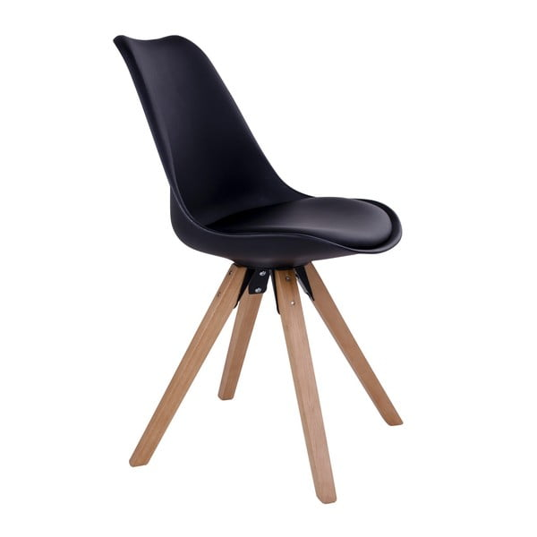 Zestaw 2 czarnych krzeseł House Nordic Bergen
