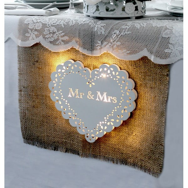 Dekoracja ślubna z lampką LED Endless Love