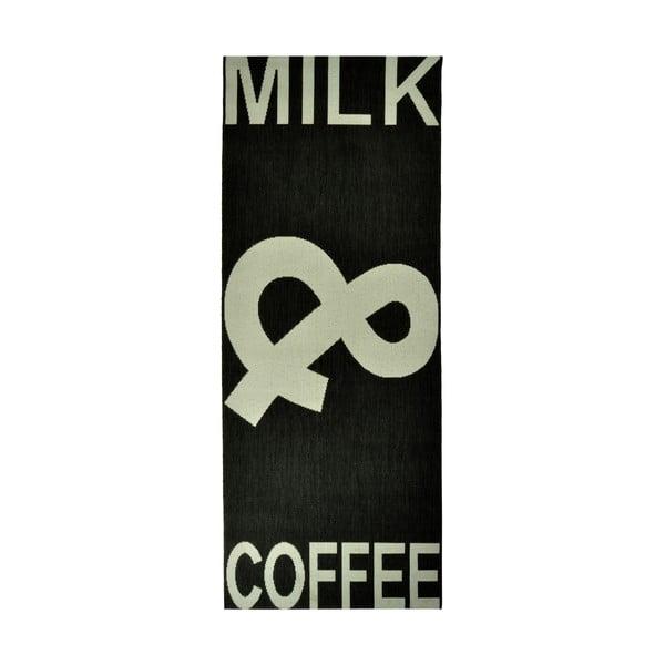Dywan kuchenny Milk&Coffee 80x200 cm, czarny