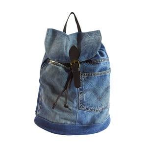Jasnoniebieski plecak skórzany Light