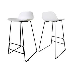 Białe krzesło barowe Canett Paris
