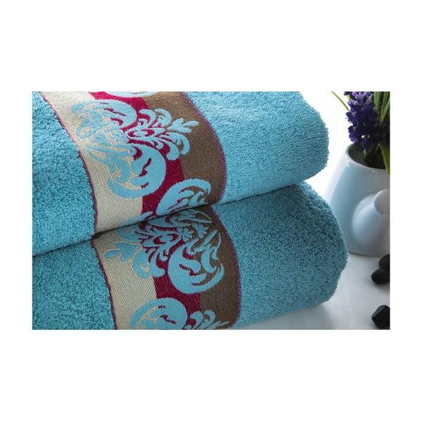 Zestaw 2 ręczników Noble V1, 50x90 cm + 70x140 cm