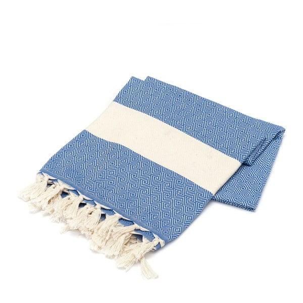 Ręcznik hammam American Stripes Blue & White, 100x180 cm