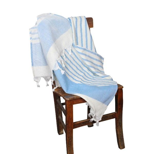 Ręcznik hammam Terry Blue, 95x170 cm