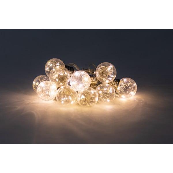 Transparentna girlanda świetlna LED, 10 lampek