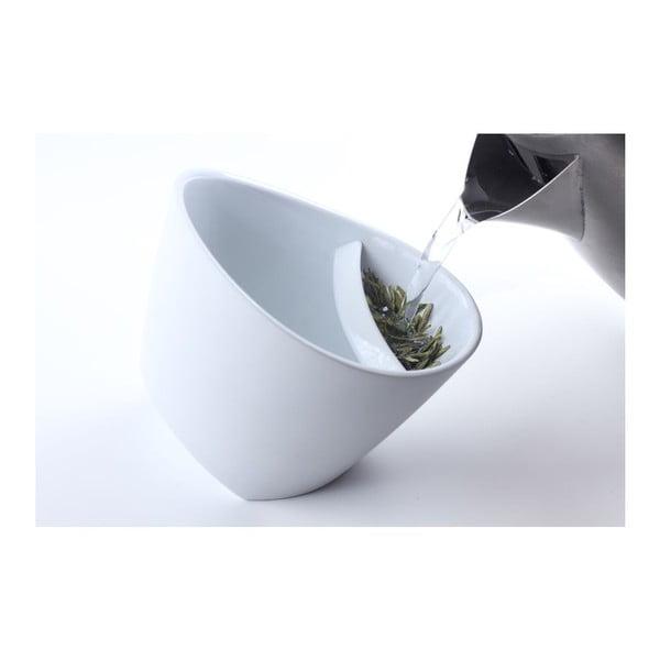 Kubek na herbatę z sitkiem, biały, 250 ml