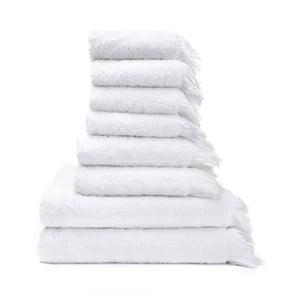 Zestaw 8 białych ręczników ze 100% bawełny Bonami