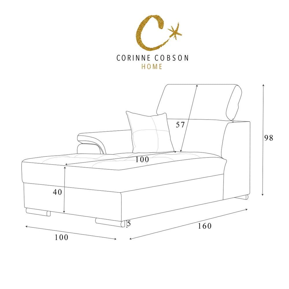 czerwony szezlong corinne cobson confidential lewy r g bonami. Black Bedroom Furniture Sets. Home Design Ideas
