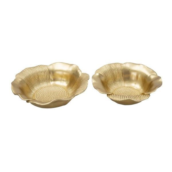 Zestaw 2 dekorativních misek w kolorze złota Mauro Ferretti Glam Peralo Couple