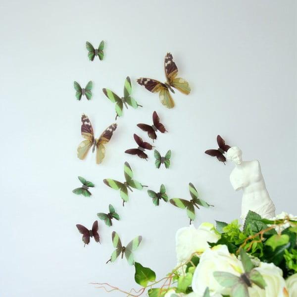 Naklejka Motyle 3D, zielone
