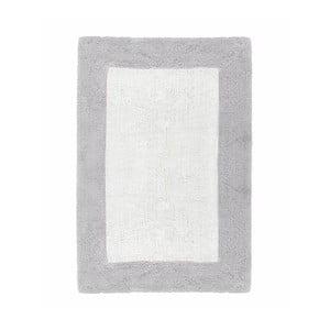 Szaro-biały ręcznie tkany dywanik łazienkowy z bawełny premium Asos, 60x90 cm