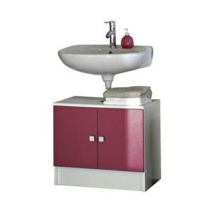 Różowa szafka łazienkowa pod umywalkę Symbiosis André