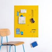 Wielofunkcyjna tablica Pegboard 61x81 cm, żółta
