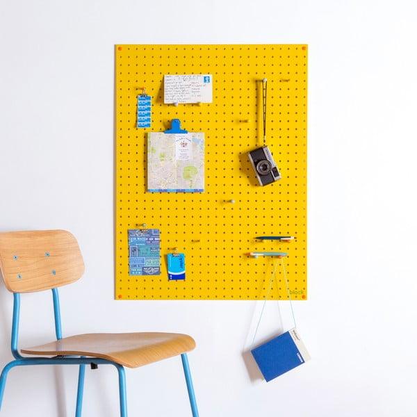 Żółta tablica wielofunkcyjna Pegboard Large, 61x81cm