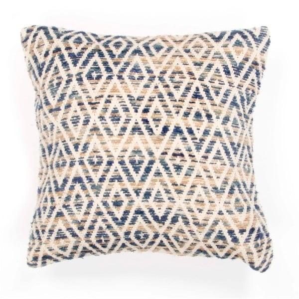 Niebieska poduszka dekoracyjna ZicZac Diamond, 45x45 cm