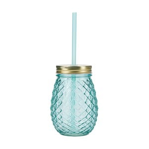 Niebieska szklanka ze słomką Miss Étoile Pineapple