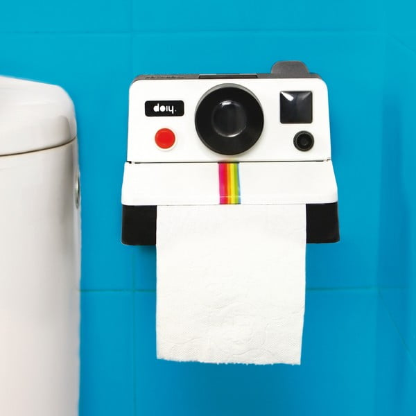 Uchwyt na papier toaletowy Polaroll White