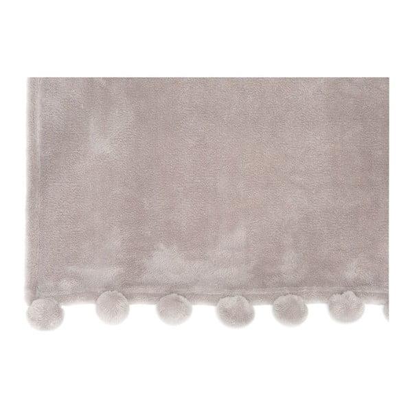 Koc Pom Pom Grey, 127x152 cm